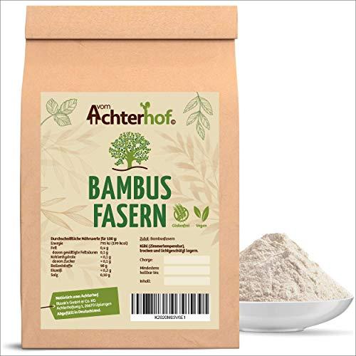 Bambusfasern Low Carb | 1 KG | Kontrollierte Qualität | Low Carb Mehl | Bambusfasermehl | Ballaststoffmehl | direkt vom Achterhof