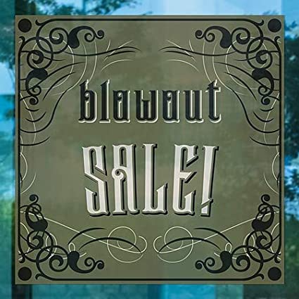 12x12 5-Pack CGSignLab Blowout Sale Victorian Gothic Window Cling