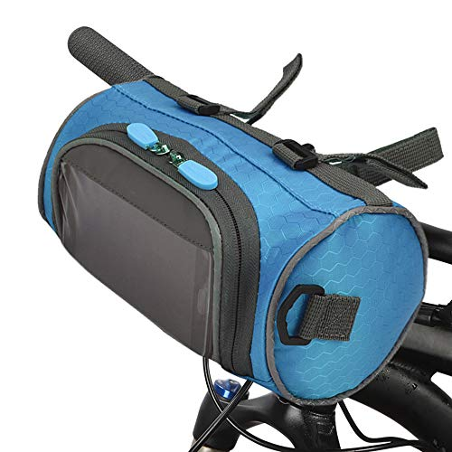 Lixada Bike Handlebar Bag Waterproof Bike Bucket Bag with Touch Screen Bicycle Front Storage Bag Large Capacity Cycling Front Frame Pack