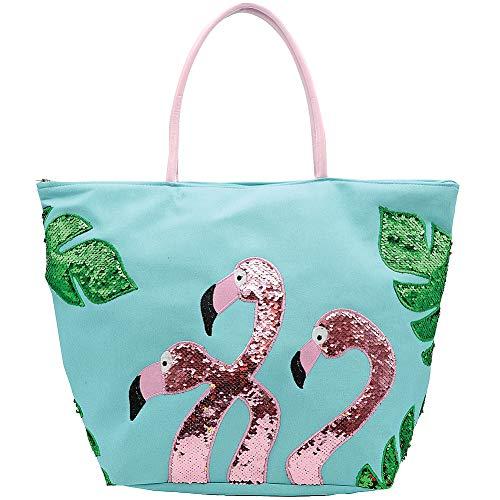 DEI Flamingo Tote Bag, 22'x16', Multicolored