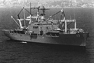 Home Comforts The U.S. Navy Amphibious Cargo Ship USS El Paso (LKS-117) in The Mediterranean Sea, in 1983. Vivid Imagery Laminated Poster Print 24 x 36