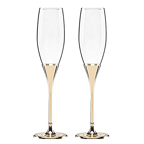 1d8cc287aa23 Kate Spade New York Simply Sparkling Gold Champagne Toasting Flute Pair,  Crystal and Gold-