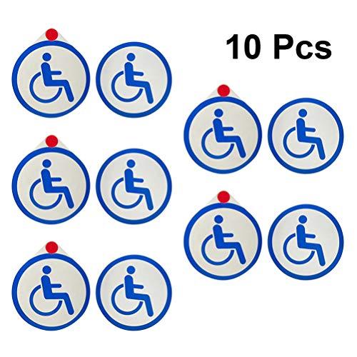 Toyvian Behindertenzeichen Aufkleber Behindertenrollstuhl Aufkleber Behindertenzeichen Auto Aufkleber für Außen Innen