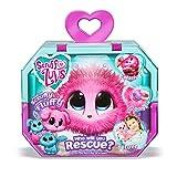 Scruff A Luvs 35535 Überraschungs Kuscheltier mit rosa Fell, Plüschtier zum Adoptieren, geheimes Schmusetier, erst durch waschen und liebhaben Wird offenbart, ob Katze, Hund oder Hase