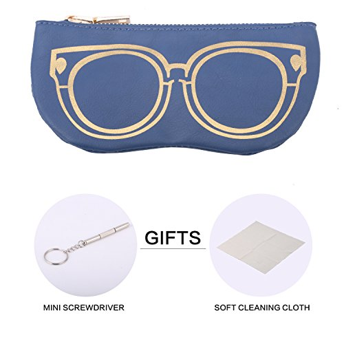 Bertha Premium Eyeglasses Sunglasses Pouch Collection Pack of 1pc (Dark...