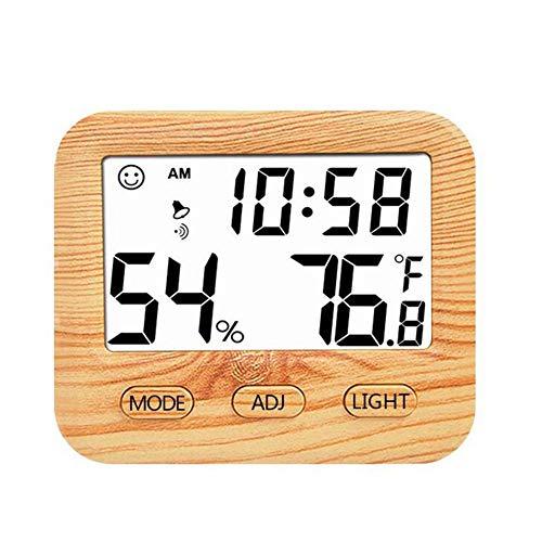 Schildeng Elektronische Digitalanzeige Temperatur Hygrometer Kleine Haushalts Indoor High Precision Hintergrundbeleuchtung Holz Thermometer Hygrometer