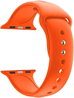 Botrong Replacement Sports Soft Silicone Watch Band Strap for Apple Watch Series 4 44MM Orange