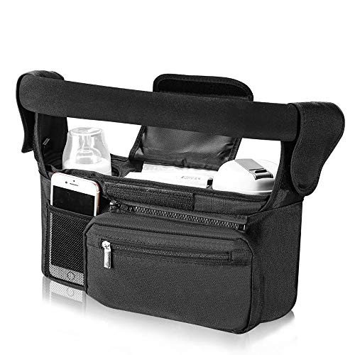 Baebley Stroller Organizer with Cup Holders for Moms Pockets for Diaper Storage...