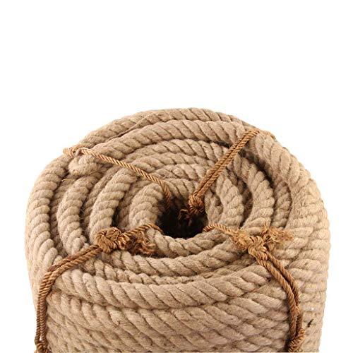 Guita YINUO Cuerda de cáñamo al aire libre Cuerda al aire libre, cuerda de cáñamo: 50 mm / 55 mm 5-10 m, cuerdas de yute cordel cuerda de cáñamo natural rústico país artesanal bricolaje accesorios hec