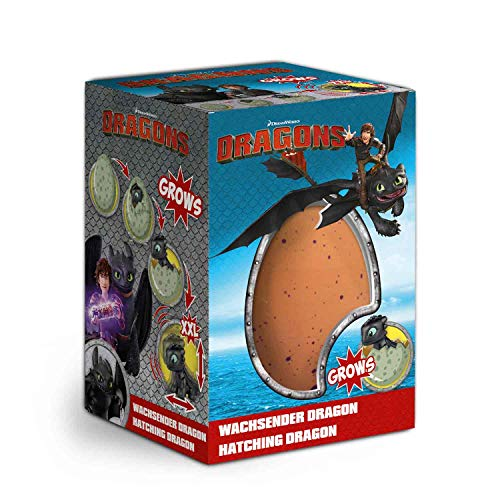 Craze Magic DreamWorks Growing Egg Dragons Überraschungs Schlüpf Ei 13328, Bunt, XXL