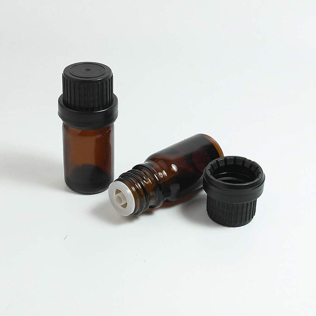 情熱法令また明日ねSimg アロマオイル 精油 遮光瓶 セット ガラス製 エッセンシャルオイル 保存用 保存容器詰め替え 茶色 10ml 5本セット