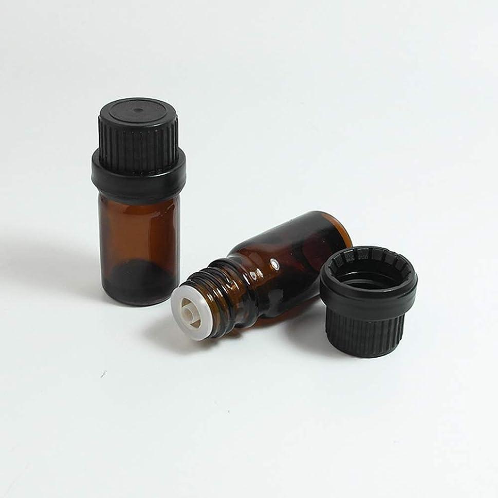 市長批判的世代Simg アロマオイル 精油 遮光瓶 セット ガラス製 エッセンシャルオイル 保存用 保存容器詰め替え 茶色 10ml 5本セット
