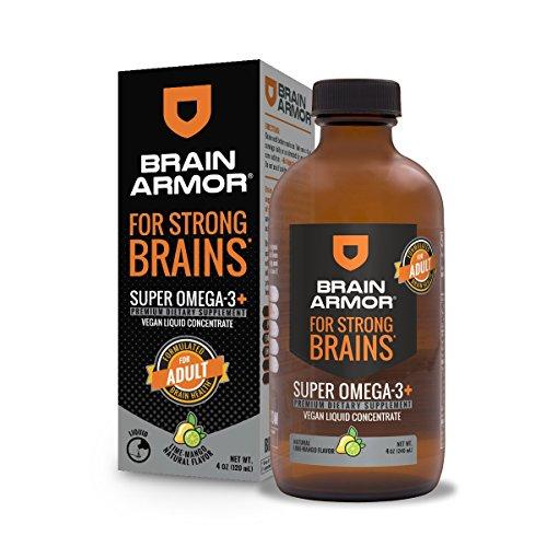 Brain Armor Brain Armor Adult Vegan Liquid Para Cerebro Fuerte, Super Omega 3+, Mango Lime Canada, 120 ml 100 g