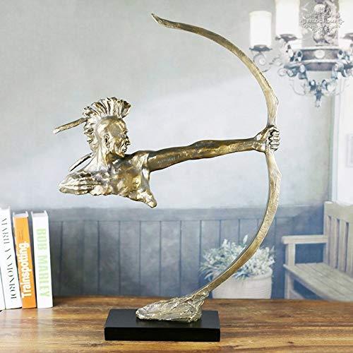 Xihou Resin Handwerk Ornamente Europäische Bronzefigur Skulptur Geschäftsdekoration Samurai Bogenschützen Kreative Geschenke, Starken Sinn for Dreidimensionale Die Natur der Kunst