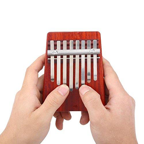 Tragbare daumen klavier, 8 schlüssel afrikanischen finger mbira finger klavier tragbare mugig daumen klavier musikinstrument kalimba für kinder erwachsene