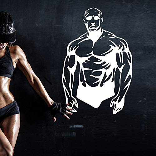 zzlfn3lv Gym Sticker Fitness Decal Body-Building Posters Vinyl Wall Decals Pegatina Quadro Parede Decor Mural Gym Sticker38*58cm