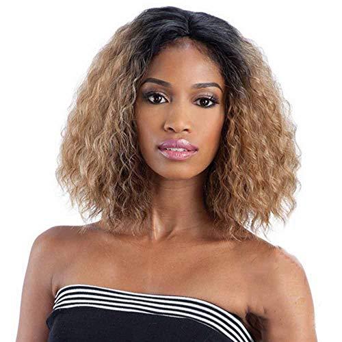 WANGZ Mixed Brown & Schwarz Kurz Afro verworren lockige Perücken Synthetisches Haar for Schwarze Frauen