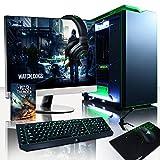 VIBOX Titan 28 Gaming PC Ordenador de sobremesa con Cupón de juego, 27' HD Monitor (4,0GHz Intel i7 X 6-Core, Nvidia GeForce GTX 1070 Tarjeta Grafica, 32GB DDR4 RAM, 240GB SSD, 3TB HDD, Sin OS)