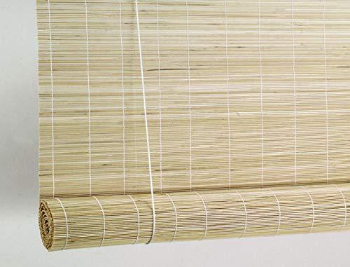 TCLPVC Bamboo Wooden Curtains, 5x7ft (Beige)