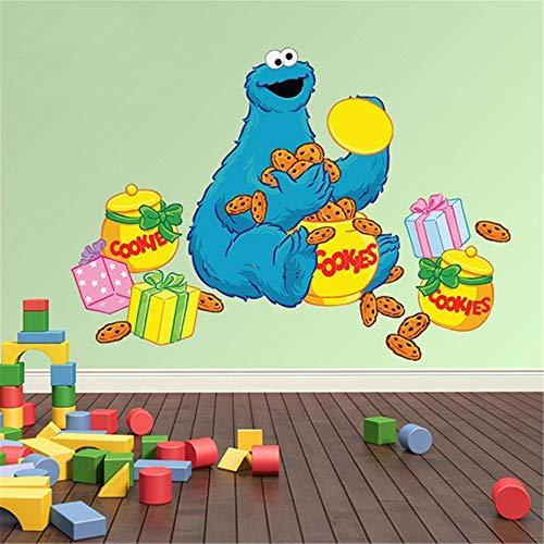 Calcomanías de pared Sesame Street Calcomanías de pared para pelar y pegar Calcomanía de pared para niños Triky con cajas de galletas