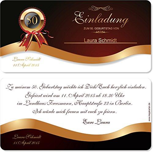 Einladungskarten zum Geburtstag! 20 Stück