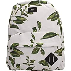 Old Skool Style Rubber Plant Floral Backpack Measuring 16.5 L x 12.75 W x 4.75 D inches