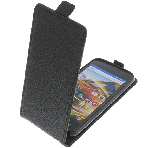 foto-kontor Tasche für Archos 40 Neon Smartphone Flipstyle Schutz Hülle schwarz