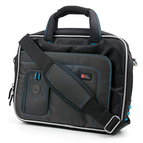 Save %27 Now! DURAGADGET Black & Blue Water Resistant Case with Accessory Storage - Compatible with ...