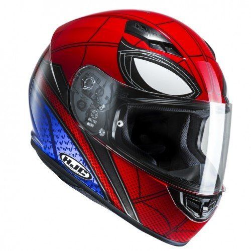 Casco de moto de Spiderman