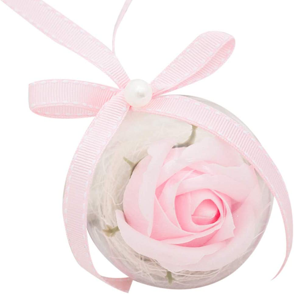 Forthery Rose Plastic Ball Pendant Fower Jewelry latest gift Decoration Soap
