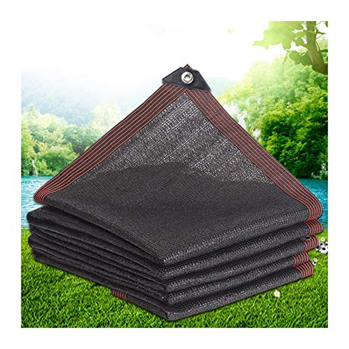 Sunblock Shade Cloth, Encrypted Thickened Sunscreen Net, Block Light Rain, Insulation Dehumidification, Used for Roof Balcony, 100g/㎡ PENGFEI (Color : A, Size : 2.4mx5m)