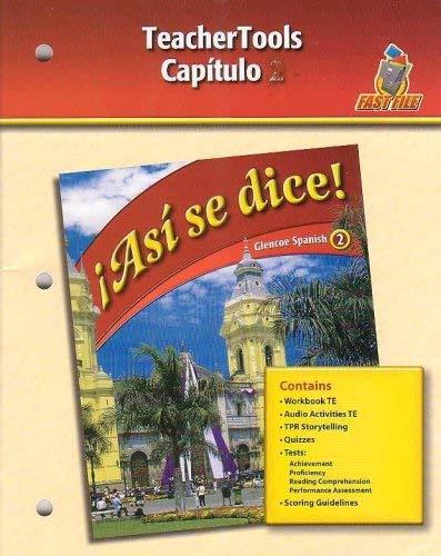 Asi se dice! - Capitulo 10 (Glencoe Spanish 2-Fast File)