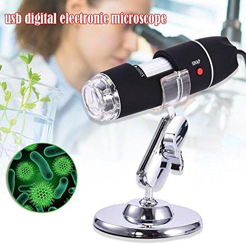 Microscopio para Estudiantes 1600X Microscopio USB Cámara Lupa de endoscopio Digital Todo Vidrio óptico de Alta Potencia para niños y niños Investigación científica con Soporte