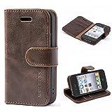 Mulbess Coque pour iPhone 4s, Etui iPhone 4s Cuir avec Magnetique, Housse Protection...