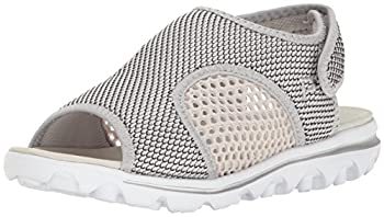 Propet Women s TravelActiv Ss Sandal Silver/Black 12 W US