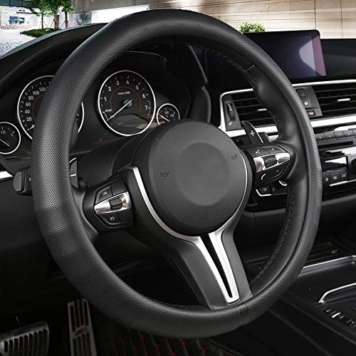 Black Panther Car Steering Wheel Cover with Grip Contours...