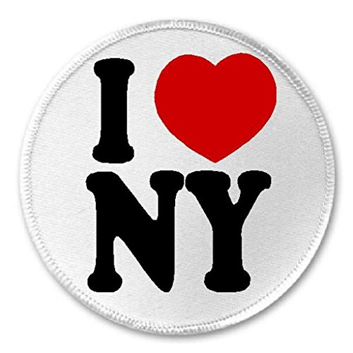 I Love NY - 3' Sew/Iron On Patch NYC New York City Manhattan Brooklyn Queens