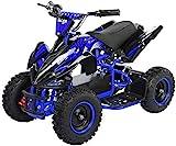 Actionbikes Motors Kinder Elektro Miniquad ATV Racer schwarz/blau