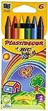 BIC Plastidecor - Estuche con 6 ceras