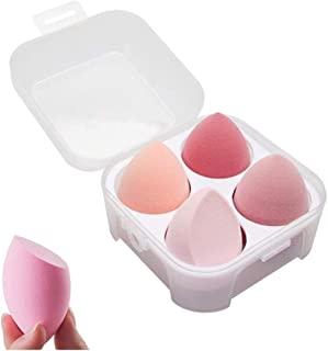 SINEN 4 Pcs Dry and Wet Use Makeup Sponge Set Blender Beauty Foundation Blending Sponge for Liquid, Cream, and Powder with Egg Sponge Blending Holder Box