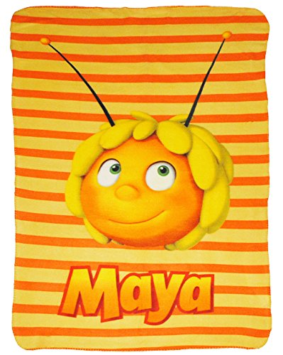 alles-meine.de GmbH Kuscheldecke / Fleecedecke -  die Biene Maja  - 100 cm * 150 cm - Decke aus Fleece - für Mädchen & Jungen - Schmusedecke - Honig Biene - Kinder Plaid Kinder..