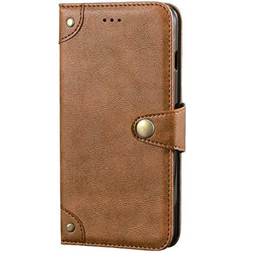 Dingshengk Retro Flip Braun Echt Leder Tasche Hülle Für Vodafone Smart N8 5