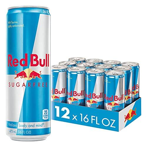 Red Bull Energy Drink, Sugar Free, Sugarfree, 16 fl oz (12 Count)