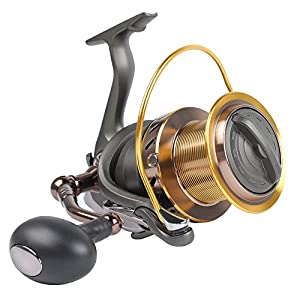 Dr.Fish Saltwater 12000 Spinning Reel for Surf Fishing, 13+1 BBS, 48LB Max Drag, Ultra High Capacity, Heavy Duty Long Casting Offshore Big Game Fishing Reel