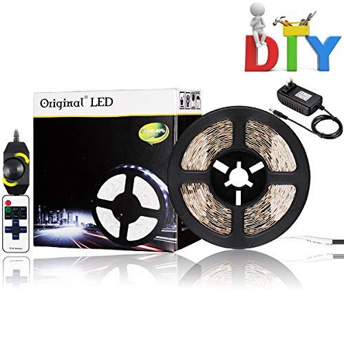 16.4ft LED Flexible Light Strip Kit, 300 Units SMD 3528 LEDs,12V 6000K White Under Cabinet Lighting?DIY Christmas Holiday Home Kitchen Car Bar Indoor Party Decoration