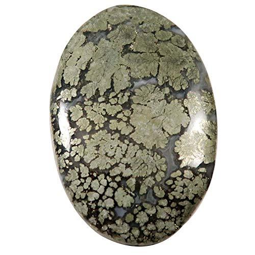 Gems&JewelsHub IO35 Markasit Ovaler natürlicher Cabochon 55,1 ct