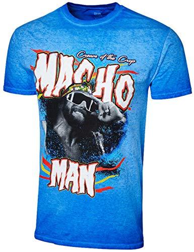 Macho Man Randy Savage WWE Cream of The Crop Authentic Vintage Wash T-Shirt M