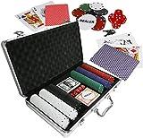 Eaxus® Elegant poker set in aluminium case – poker case Royal Flush ♣️