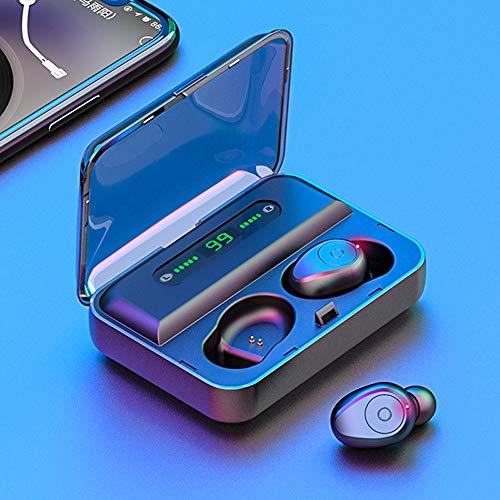 Lepeuxi F9 Auriculares inalámbricos Bluetooth 5.0 True Auriculares TWS con música estéreo con Pantalla Digital Auriculares Deportivos Impermeables IPX7 con Caja de Carga para micrófono