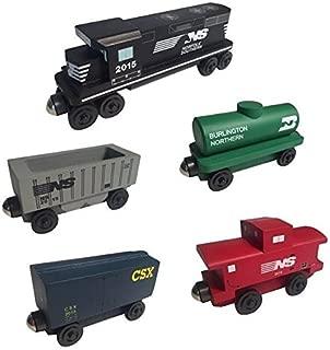 Whittle Shortline Railroad - Manufacturer Norfolk Southern Railway GP-38 Diesel 5pc. Set - Wooden Toy Train